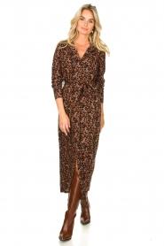 Freebird |  Button down dress with belt Vikas | black  | Picture 3