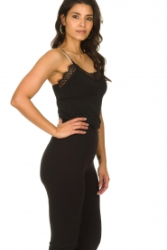 Fracomina |  Sleeveless top with lace July | black  | Picture 4