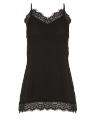 Fracomina |  Sleeveless top with lace July | black  | Picture 1