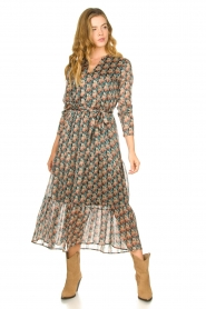 Freebird |  Maxi dress with florals | Green  | Picture 2