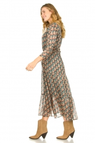 Freebird |  Maxi dress with florals | Green  | Picture 3