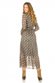 Freebird |  Maxi dress with florals | Green  | Picture 5
