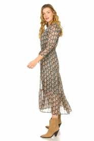 Freebird |  Maxi dress with florals | Green  | Picture 4