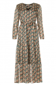 Freebird |  Maxi dress with florals | Green  | Picture 1