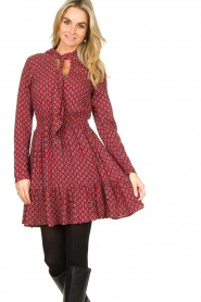 Freebird |  Print dress Elia | red  | Picture 4