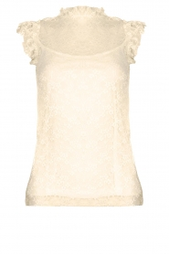 Fracomina |  Lace top July | white  | Picture 1