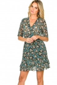 Freebird |  Floral dress Emily | blue  | Picture 4