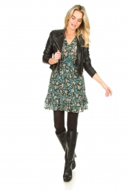 Freebird |  Floral dress Emily | blue  | Picture 3