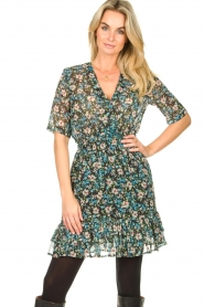 Freebird |  Floral dress Emily | blue  | Picture 2