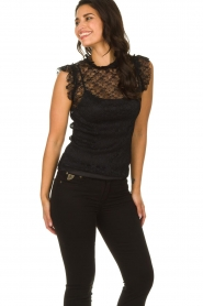 Fracomina |  Lace top July | black  | Picture 2