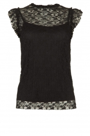Fracomina |  Lace top July | black  | Picture 1