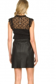 Fracomina |  Lace top July | black  | Picture 6