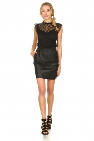Fracomina |  Lace top July | black  | Picture 3