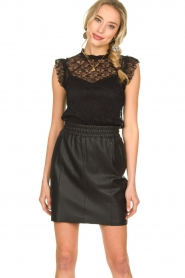 Fracomina |  Lace top July | black  | Picture 4