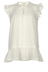 Fracomina |  See-through top with dots Veerle |  white  | Picture 1