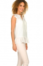 Fracomina |  See-through top with dots Veerle |  white  | Picture 5