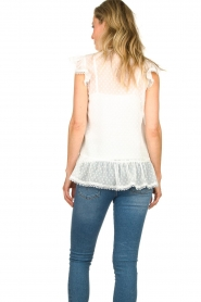Fracomina |  See-through top with dots Veerle |  white  | Picture 6