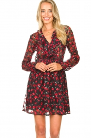 Freebird |  Print dress Gianna | red  | Picture 2