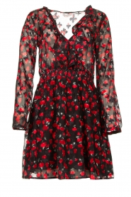 Freebird |  Print dress Gianna | red  | Picture 1
