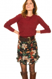 Freebird |  Floral skirt Femm | black  | Picture 4