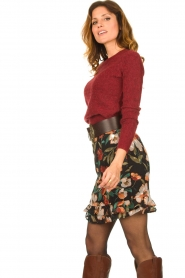 Freebird |  Floral skirt Femm | black  | Picture 5