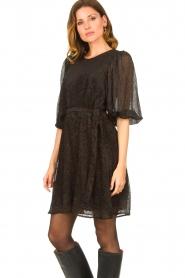 Freebird |  Print dress Anou | black  | Picture 4