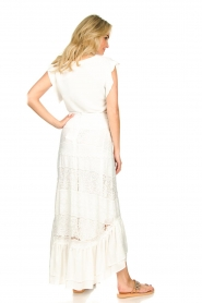 Fracomina |  Maxi skirt  with lace Mediterane | white  | Picture 6