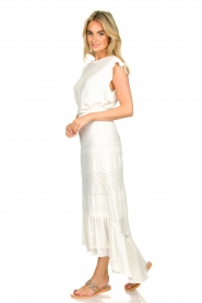 Fracomina |  Maxi skirt  with lace Mediterane | white  | Picture 5