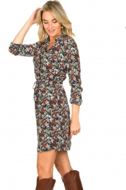 Freebird |  Print dress with drawstring Bridget | blue  | Picture 7