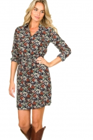 Freebird |  Print dress with drawstring Bridget | blue  | Picture 4