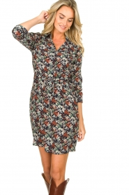 Freebird |  Print dress with drawstring Bridget | blue  | Picture 6