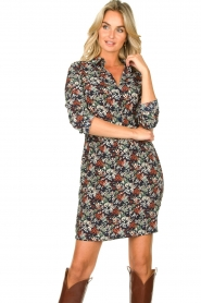 Freebird |  Print dress with drawstring Bridget | blue  | Picture 5
