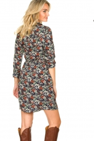 Freebird |  Print dress with drawstring Bridget | blue  | Picture 8