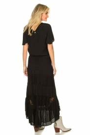 Fracomina |  Maxi skirt with lace | black  | Picture 6