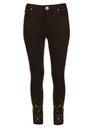 Fracomina | Jeans with lace Suzan | black  | Picture 1
