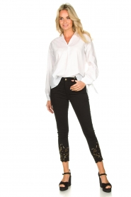 Fracomina | Jeans with lace Suzan | black  | Picture 3
