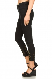 Fracomina | Jeans with lace Suzan | black  | Picture 5