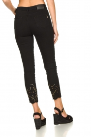 Fracomina | Jeans with lace Suzan | black  | Picture 6