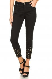 Fracomina | Jeans with lace Suzan | black  | Picture 4