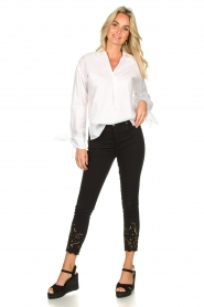 Fracomina | Jeans with lace Suzan | black  | Picture 2