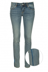 Fracomina |  Skinny jeans with lurex stripes Tina | blue  | Picture 1