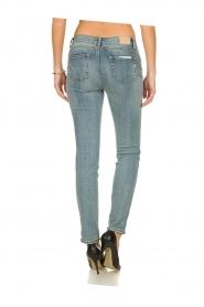 Fracomina |  Skinny jeans with lurex stripes Tina | blue  | Picture 6