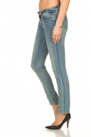 Fracomina |  Skinny jeans with lurex stripes Tina | blue  | Picture 5
