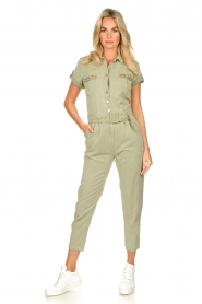 Fracomina |  Jumpsuit with stones Perla | green  | Picture 2