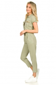 Fracomina |  Jumpsuit with stones Perla | green  | Picture 5