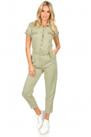 Fracomina |  Jumpsuit with stones Perla | green  | Picture 3