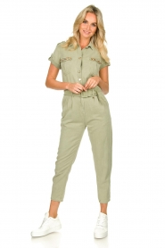 Fracomina |  Jumpsuit with stones Perla | green  | Picture 4