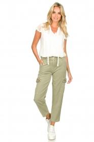 Fracomina |  Cargo pants Perla | groen  | Picture 3