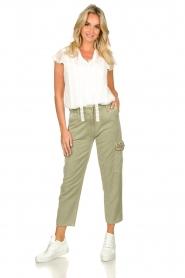 Fracomina |  Cargo pants Perla | groen  | Picture 2