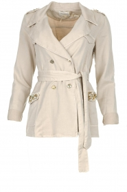 Fracomina |  Short trench coat Perla | natural  | Picture 1